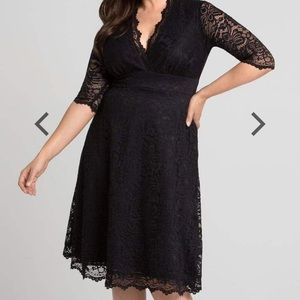 Kiyonna Mademoiselle Lace Dress - Onyx NWT